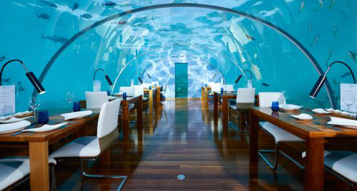 Rangali Island beach near Underwater restaurant