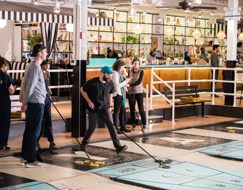 9. Enjoy playing shuffleboard at the Royal Palms