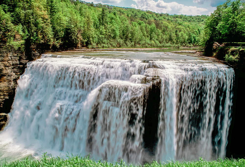 2. Middle Falls, Genesee River :