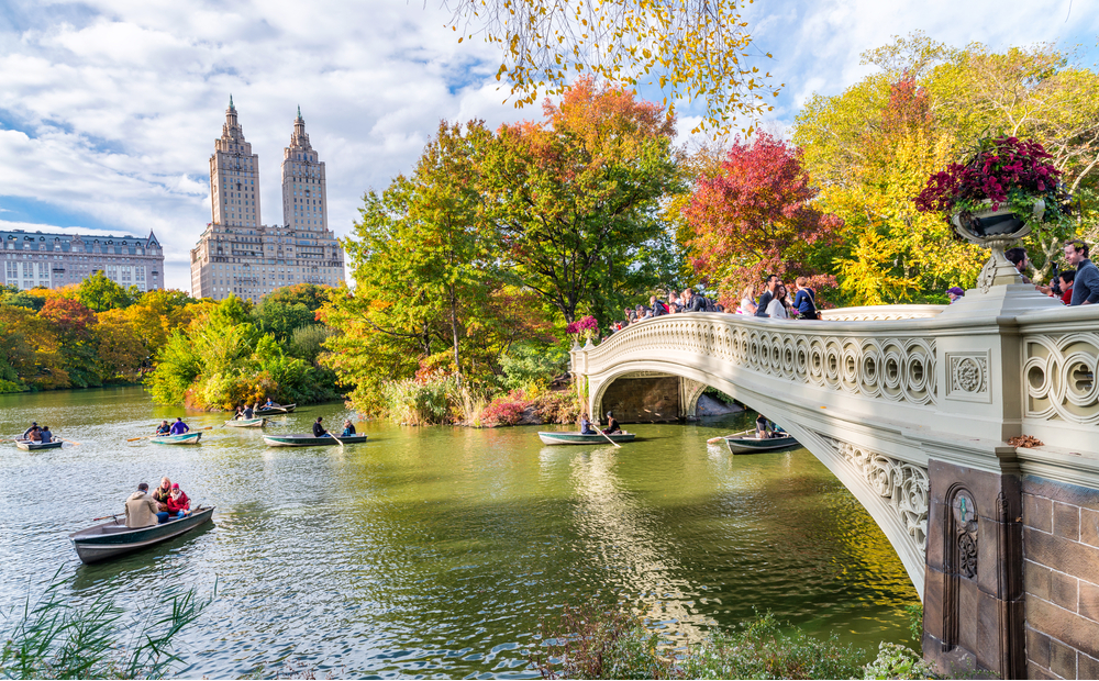 Be refreshed at the Central Park