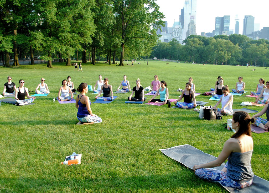 Join the New Yorkers in the Yoga Trail in Central Park